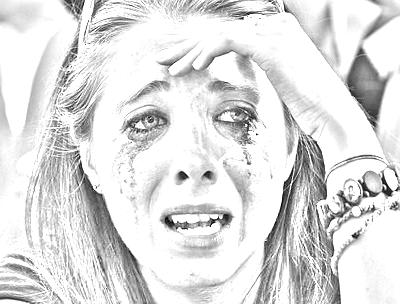 teen crying